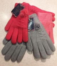 Зимние двойные перчатки для девочки