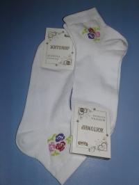 Белые носочки с цветочком