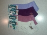 Короткие женские носки с бантиком