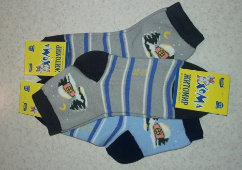 Махровые носочки Домик р.20-22