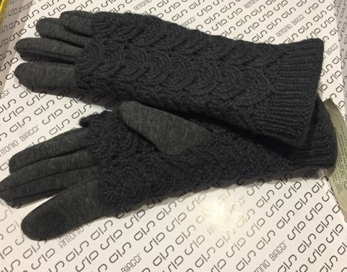 Зимние ажурные перчатки